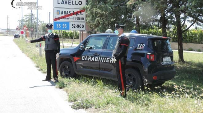 Lavello carabinieri