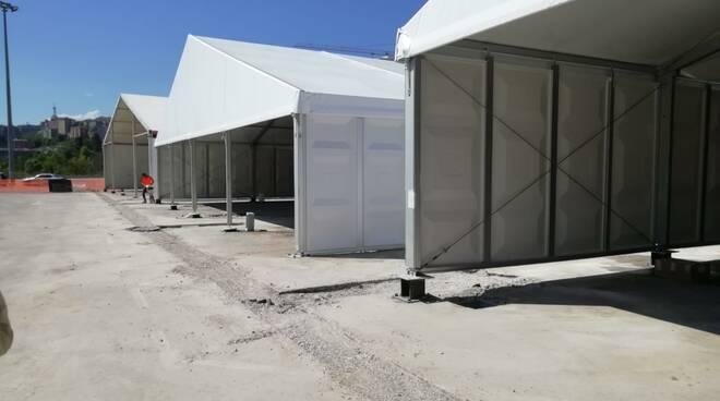 Ospedale da campo donato dal Qatar