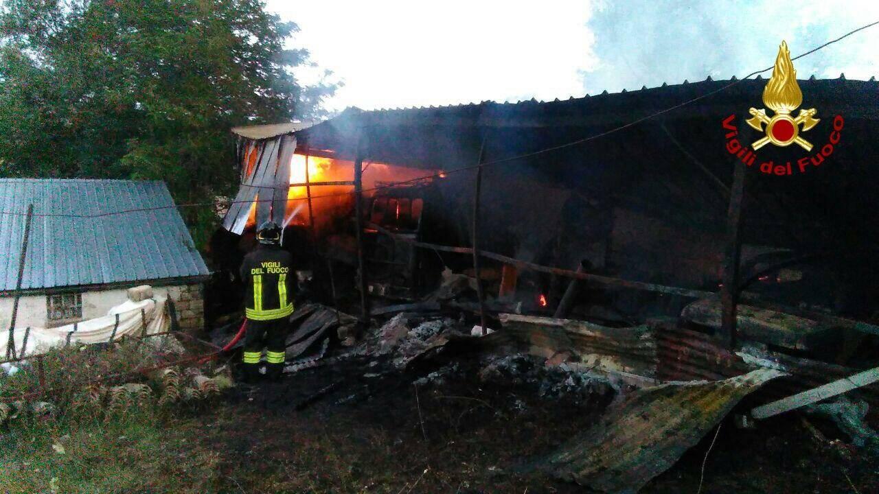 vigili del fuoco a Filiano