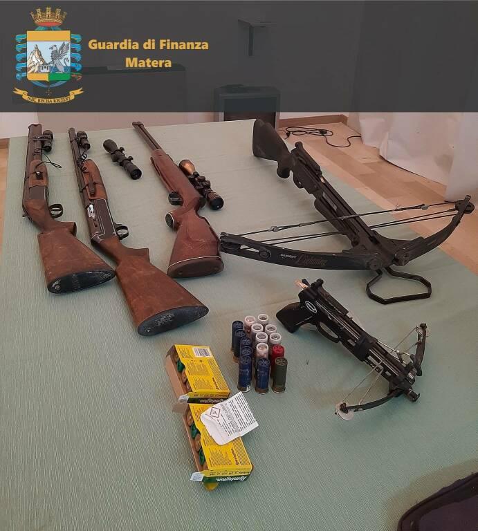 Piante e armi sequestrate