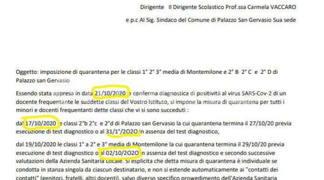 Documento Asp quarantena