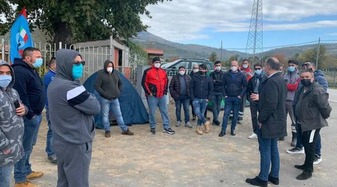 I lavoratori in sciopero della fame