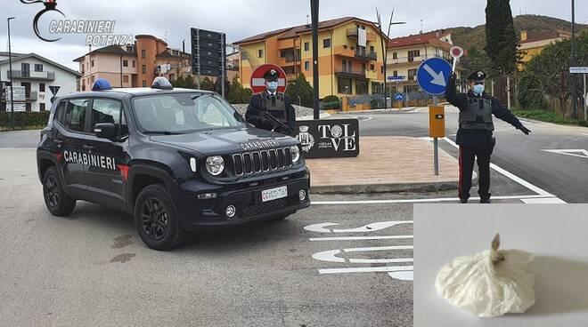 Carabinieri di Tolve e cocaina sequestrata