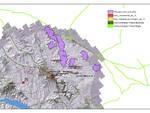 Cartina deposito scorie Alto Bradano