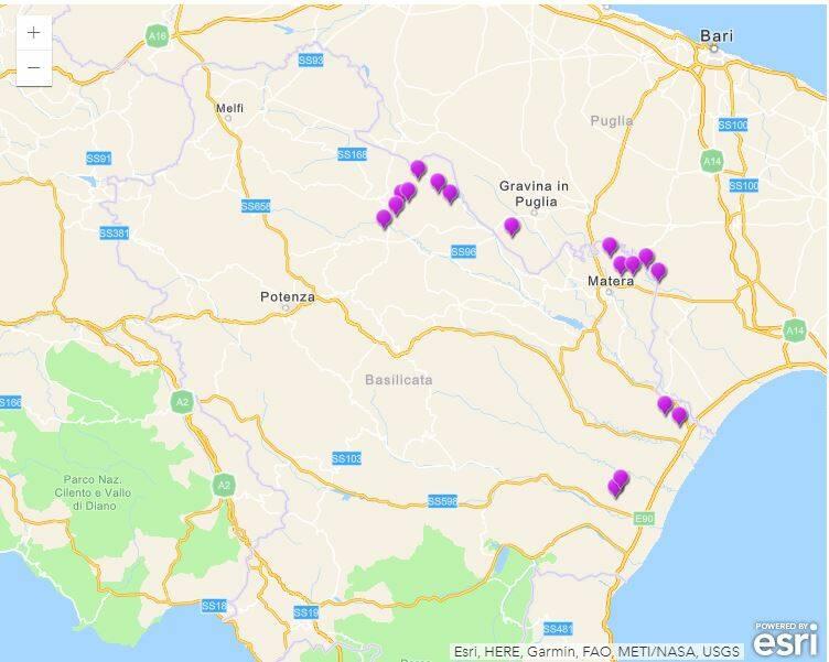 deposito scorie mappa