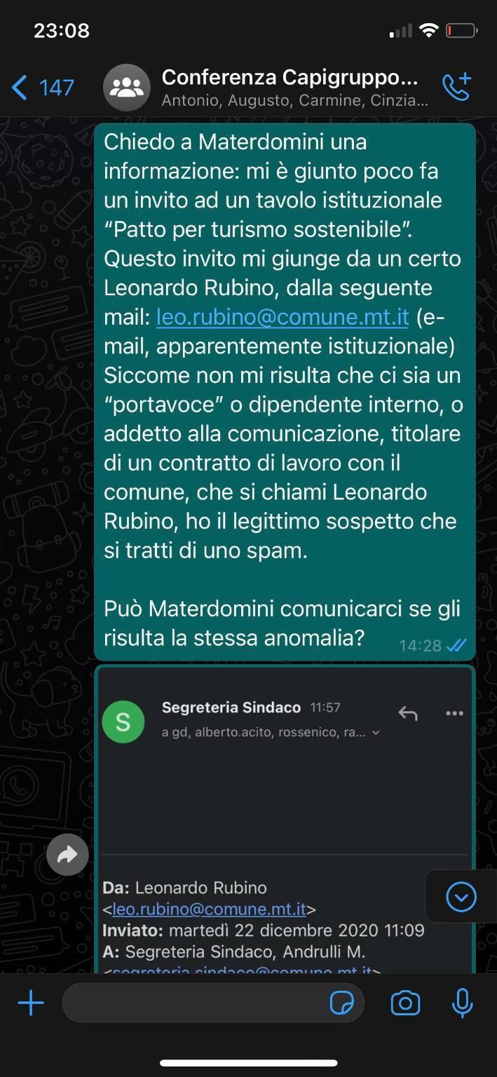 Richiesta a Materdomini