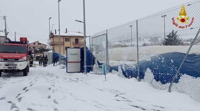 Interventi vigili del fuoco neve