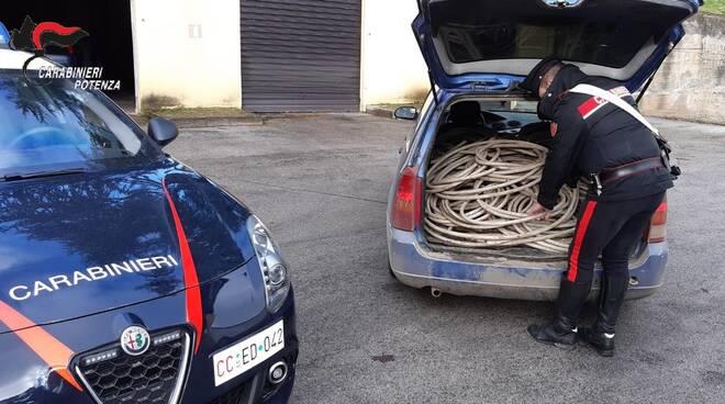 Operazione carabinieri furti cavi rame