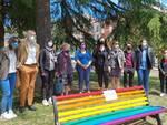 Inaugurazione panchina arcobaleno Melfi