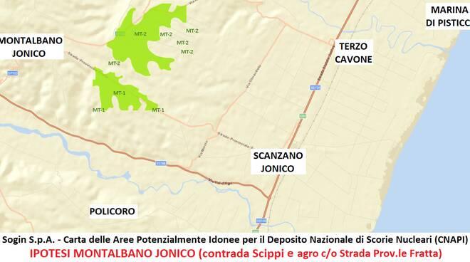 Deposito Unico Bernalda Montalbano mappa